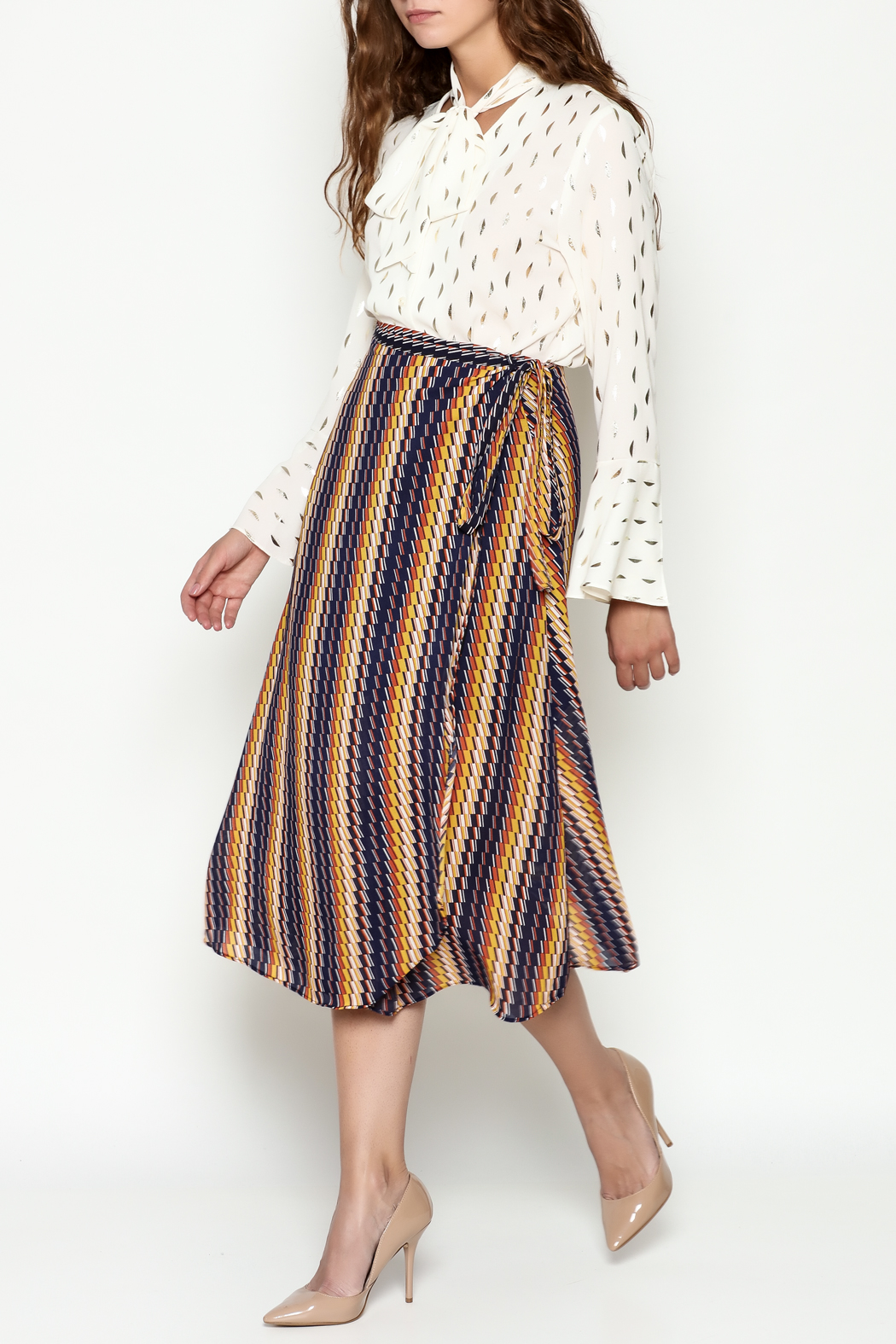 THINK CLOSET Wrap Skirt - Side Cropped Image