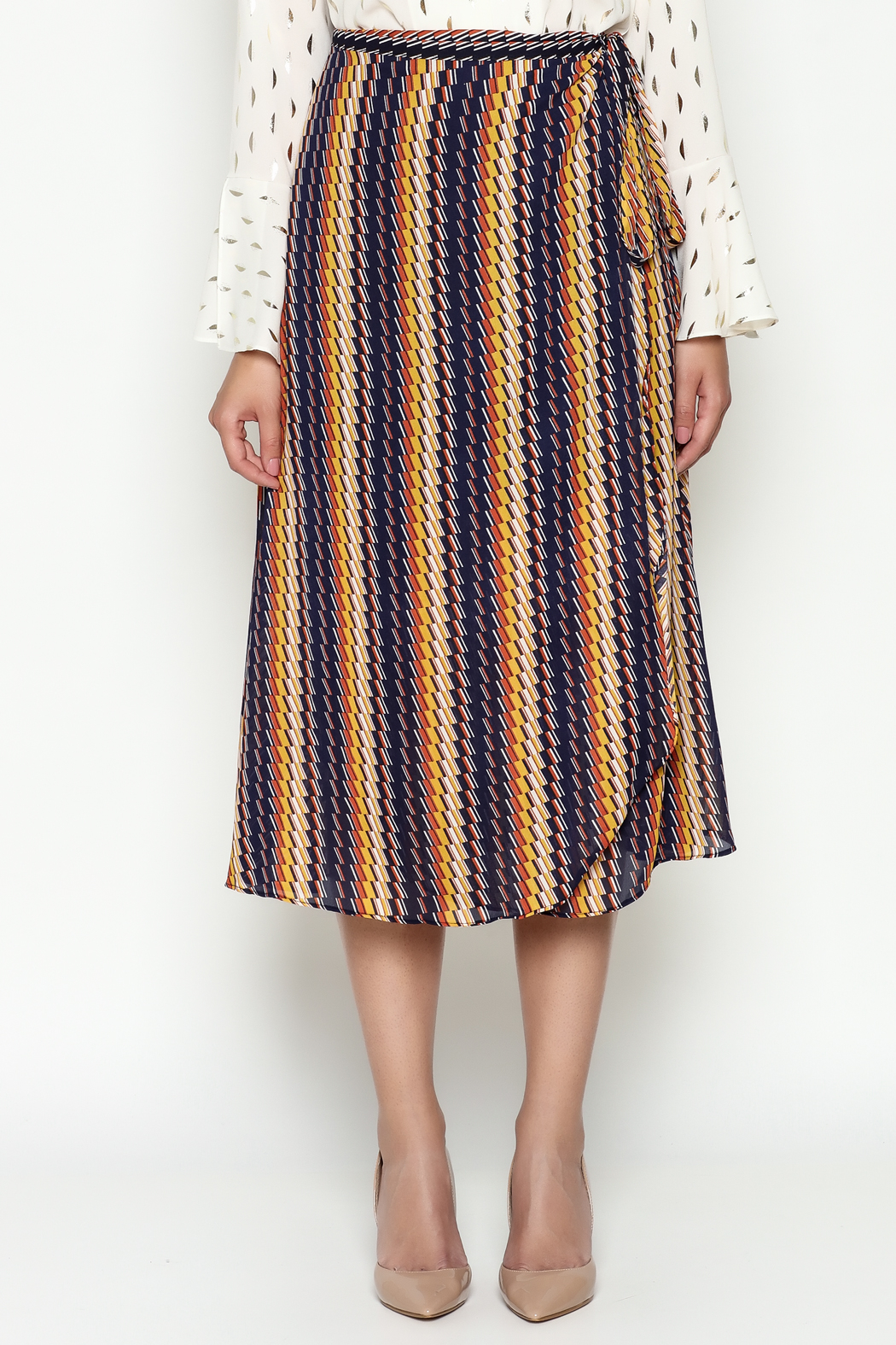 THINK CLOSET Wrap Skirt - Front Full Image