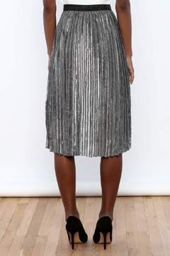 THINK CLOSET Sparkle Me Silver Skirt - Alternate List Image