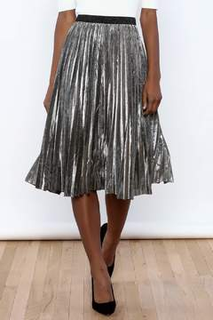 THINK CLOSET Sparkle Me Silver Skirt - Product List Image