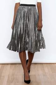 THINK CLOSET Sparkle Me Silver Skirt - Product Mini Image