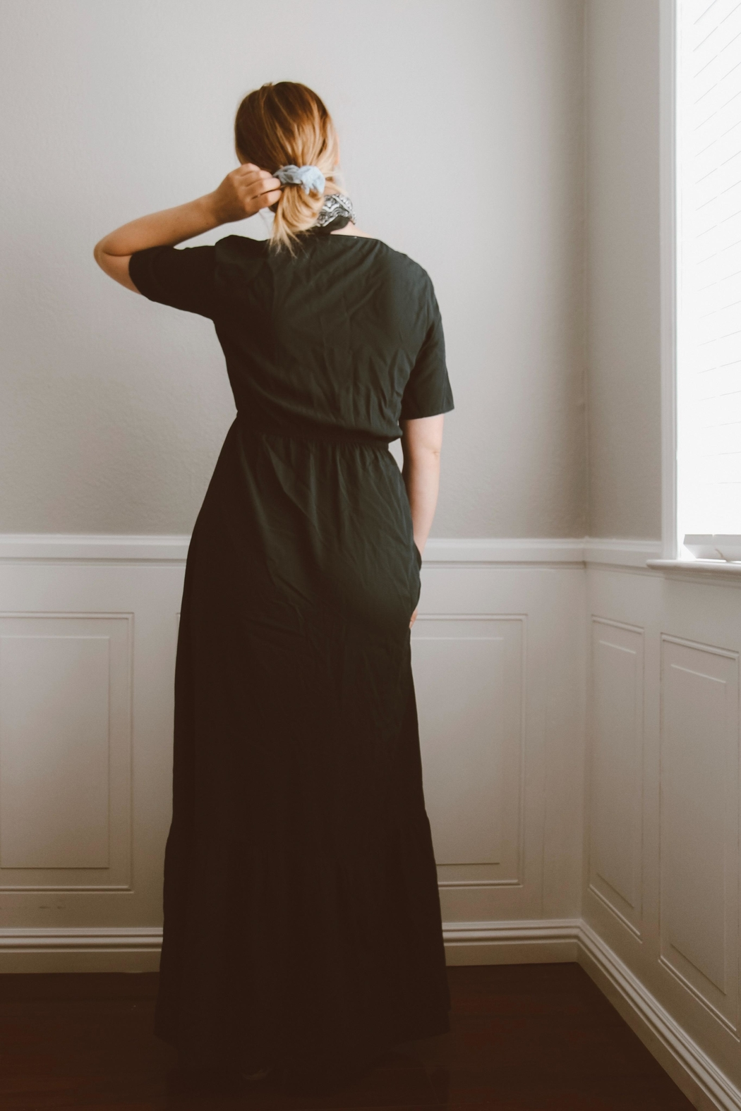 rokoko This-Is-Love Navy Maxi-Dress - Front Full Image