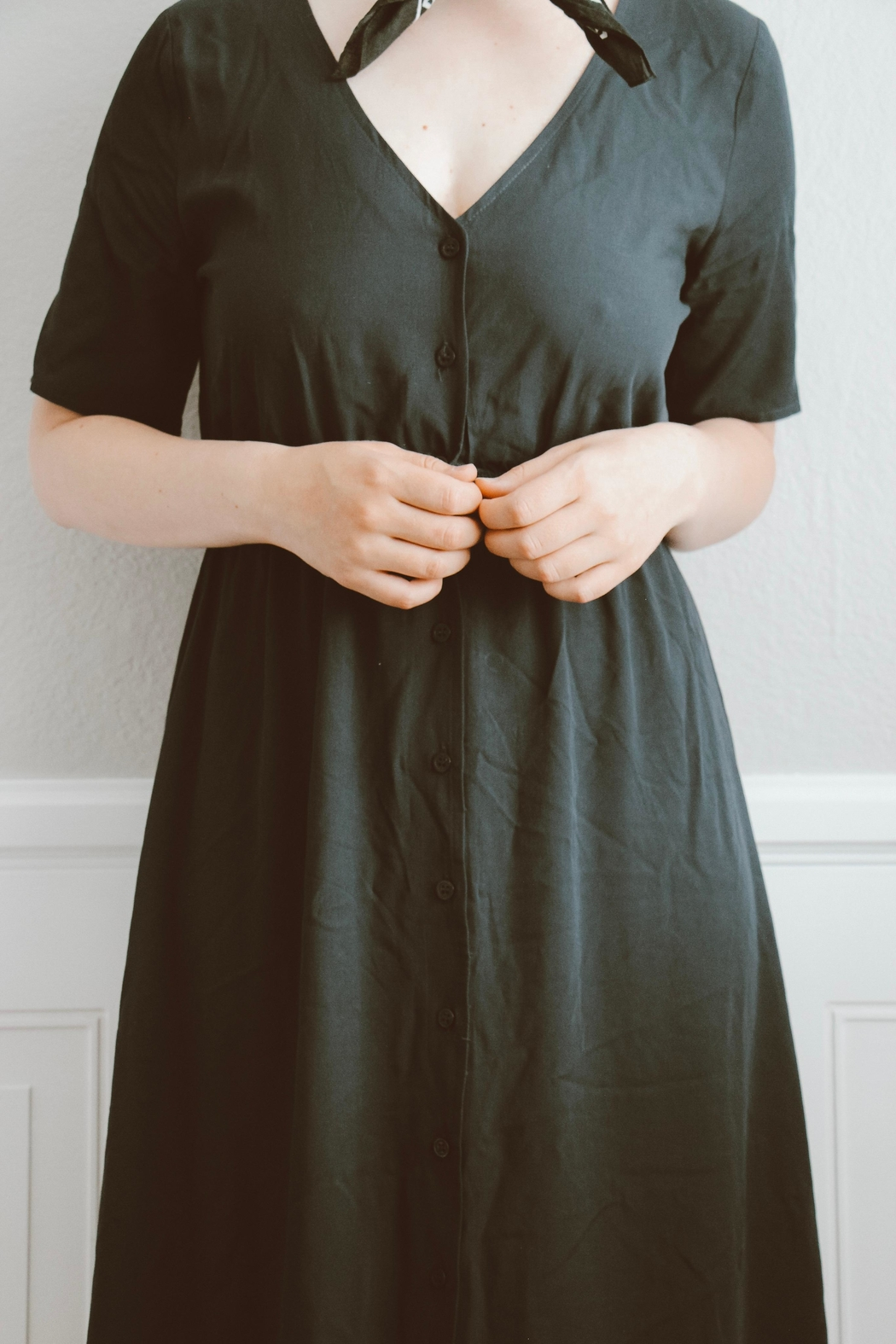 rokoko This-Is-Love Navy Maxi-Dress - Side Cropped Image
