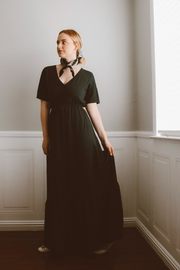 rokoko This-Is-Love Navy Maxi-Dress - Front cropped