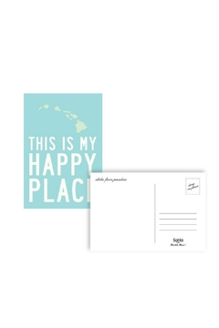 Soha Living This Is My Happy Place Postcard - Hawaii - Alternate List Image