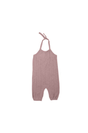 L'oved baby Thistle Pointelle Tie Halter Romper - Product Mini Image