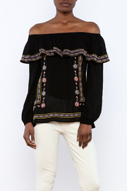 THML Clothing Black Embroidered Blouse - Product Mini Image