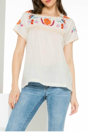 Thml Boho Embroidered Top - Product Mini Image