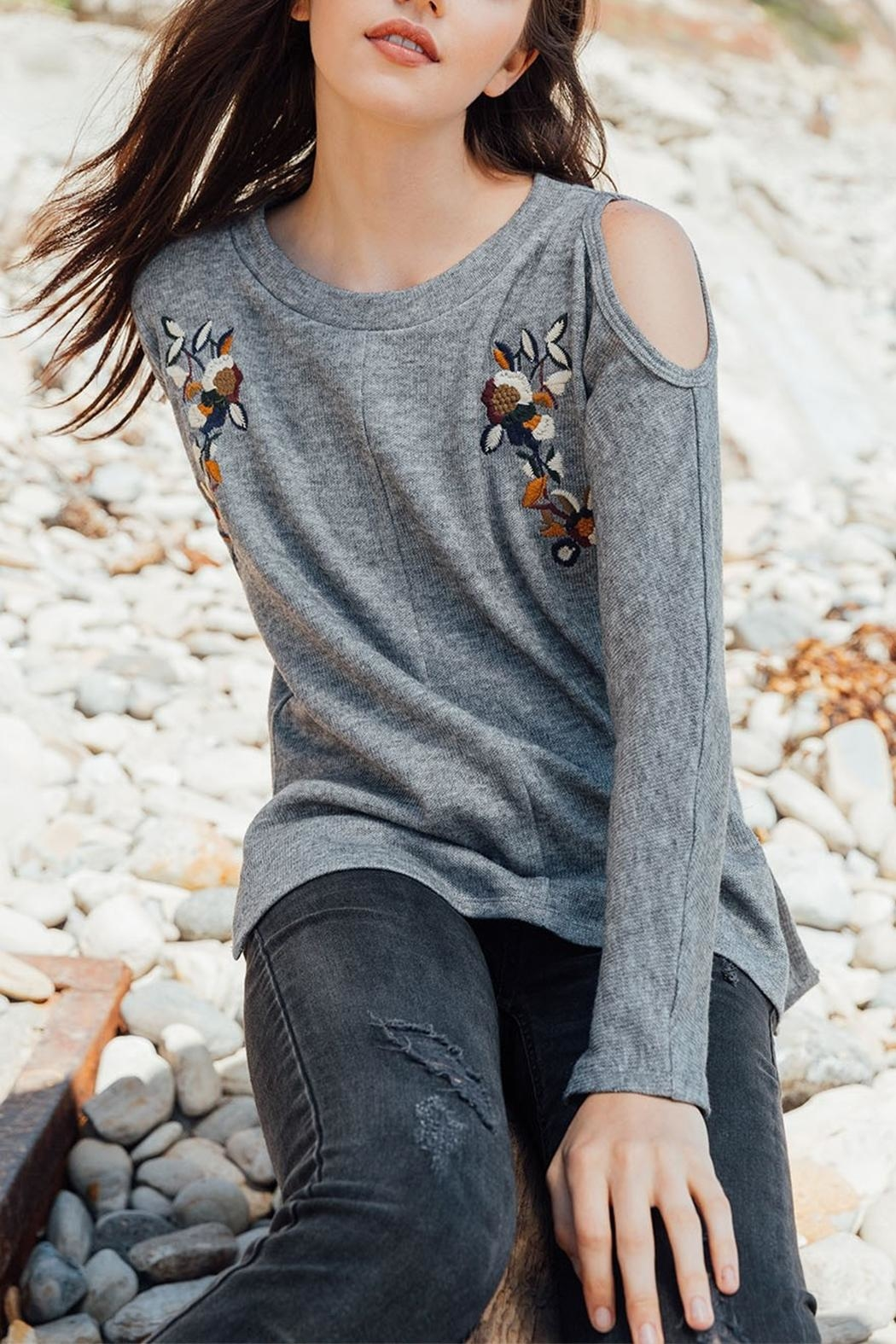Thml Cold Shoulder Sweater - Main Image