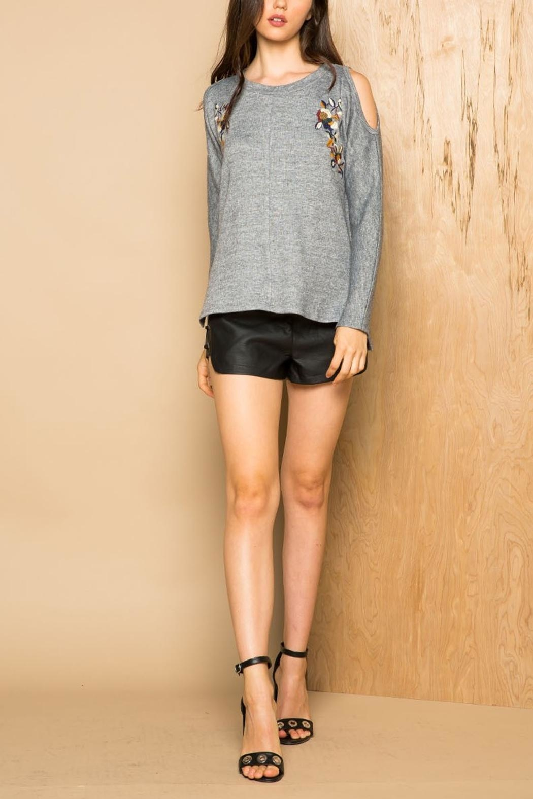 Thml Cold Shoulder Sweater - Front Full Image