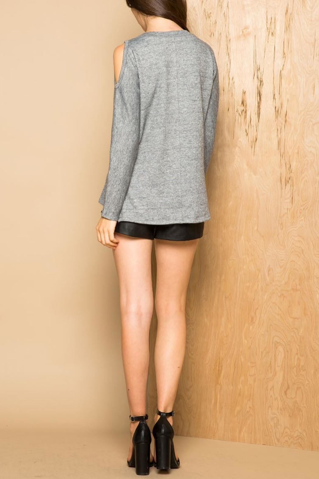 Thml Cold Shoulder Sweater - Side Cropped Image
