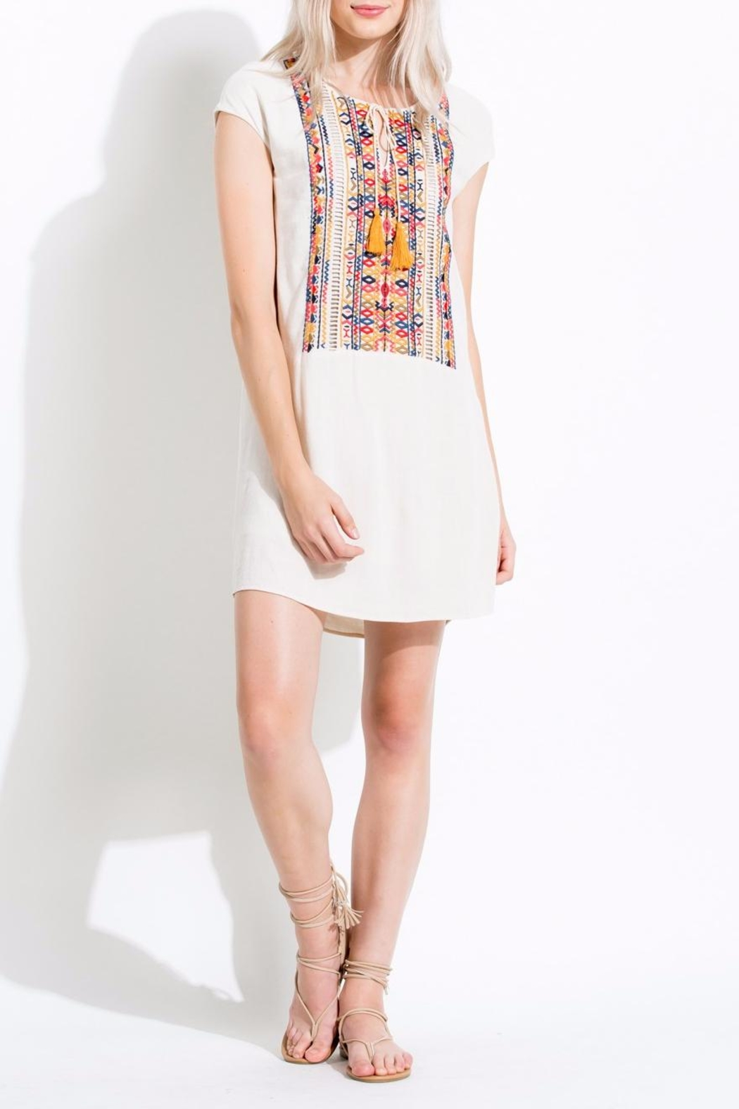 Thml Colorful Embroidered Dress - Main Image
