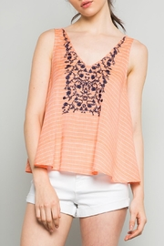 THML Clothing Coral Emboidered Top - Product Mini Image