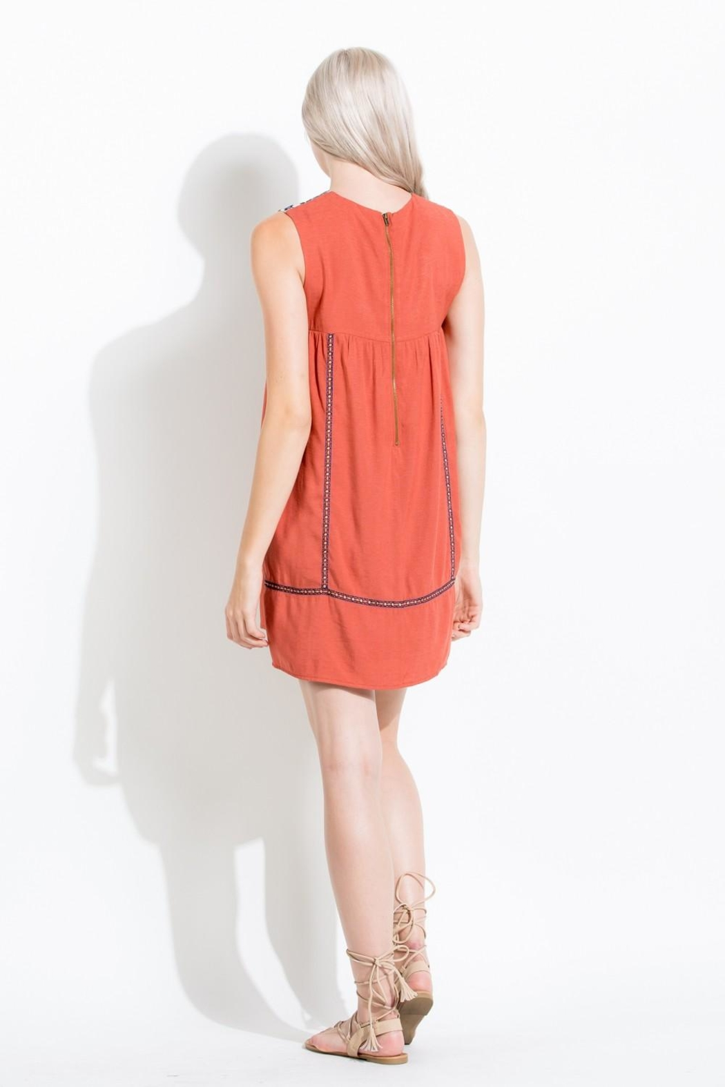 Thml Coral Embroidered Dress - Front Full Image