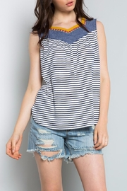 Thml Denim Embroidered Top - Front cropped