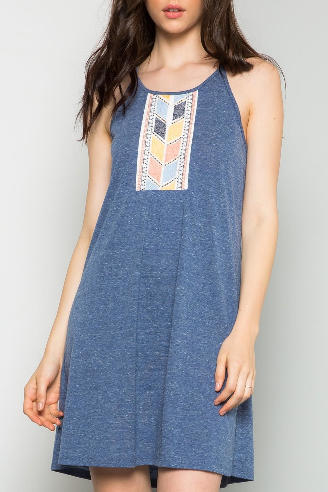 Thml Embrodiered Knit Dress - Main Image