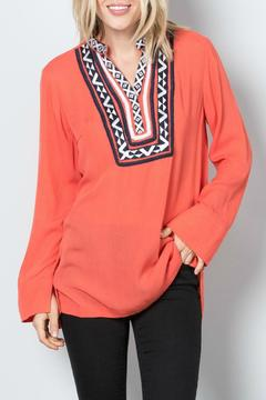 Shoptiques Product: Embroidered Bib Tunic