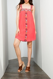 THML Clothing Embroidered Coral Dress - Product Mini Image