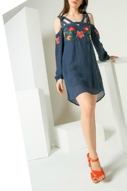 Thml Embroidered Detail Dress - Product Mini Image