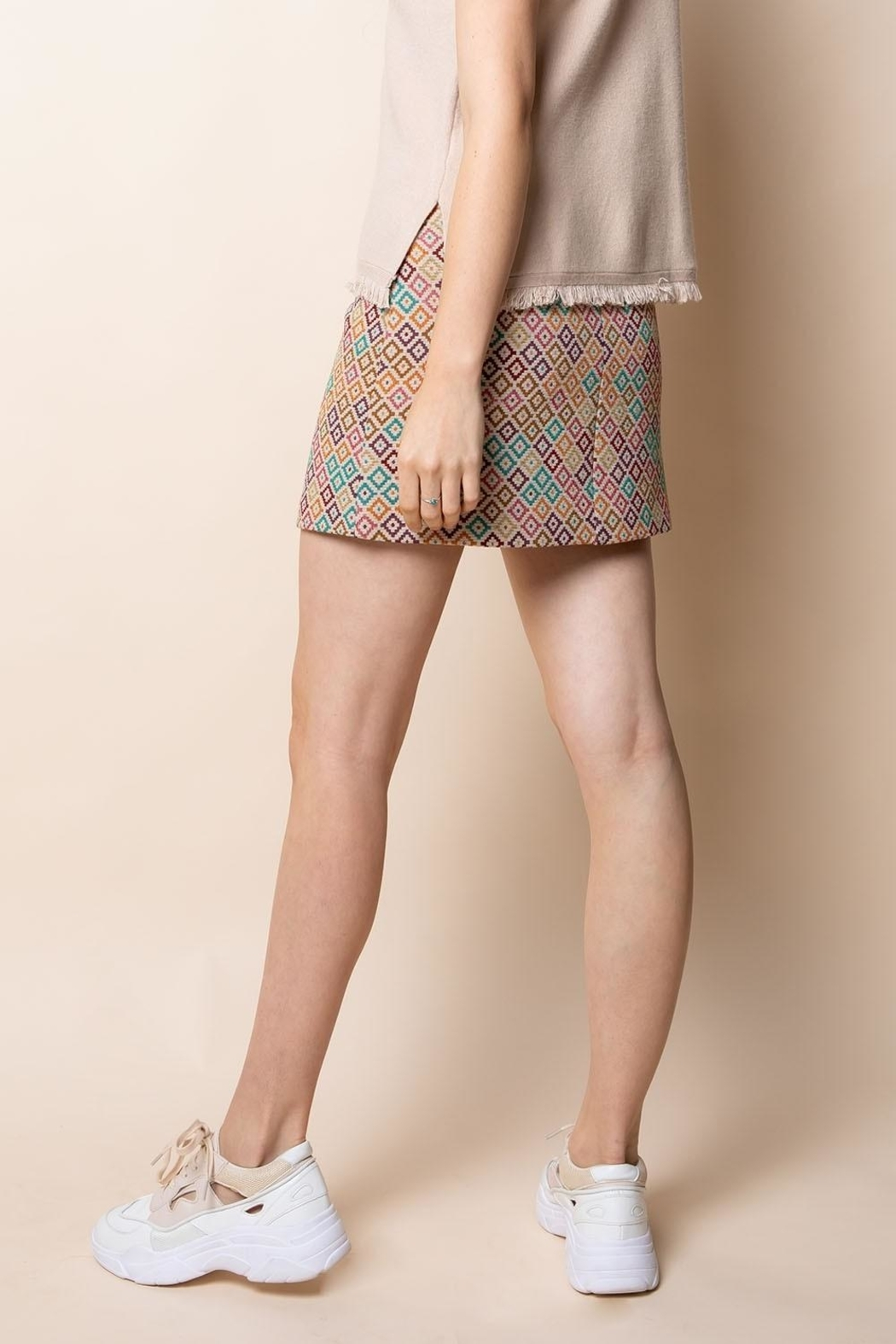 Thml Embroidered Knit Skirt - Side Cropped Image