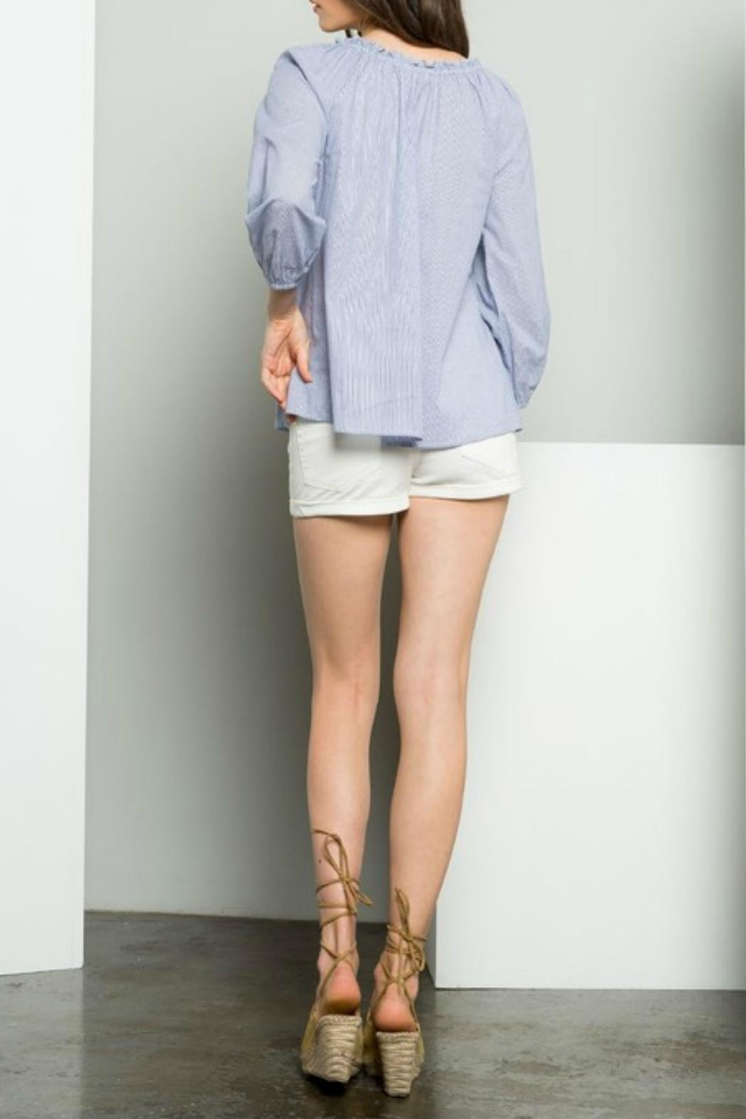 THML Clothing Embroidered Shirt - Side Cropped Image