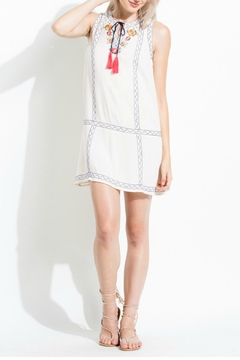 Shoptiques Product: Embroidered Sleeveless Dress