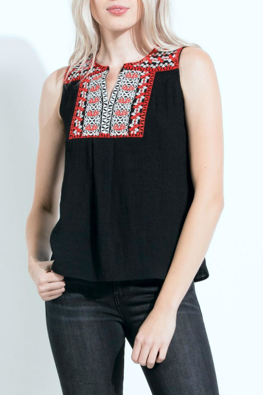 THML Clothing Embroidered Sleeveless Top - Main Image
