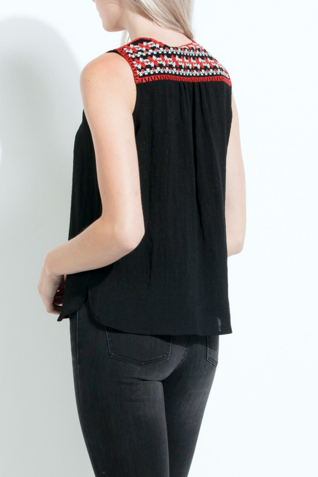 THML Clothing Embroidered Sleeveless Top - Front Full Image