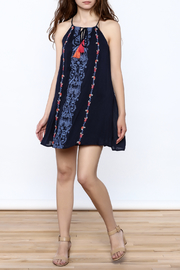 THML Clothing Embroidered Sundress - Front full body