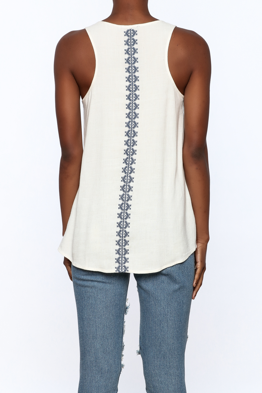Thml Embroidered Tank - Back Cropped Image