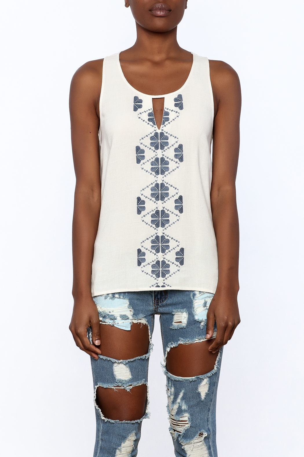 Thml Embroidered Tank - Side Cropped Image