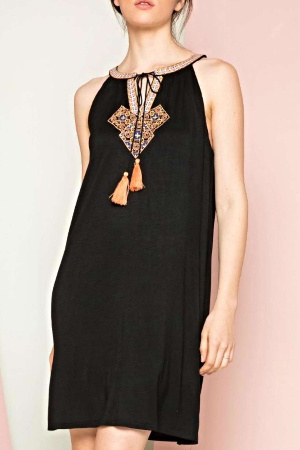 Thml Embroidered Tassel Dress - Main Image