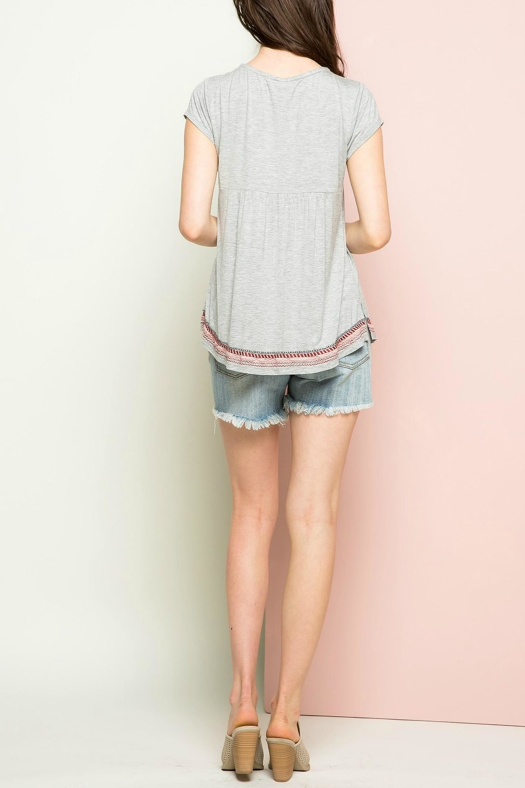 THML Clothing Embroidered Tie Top - Front Full Image