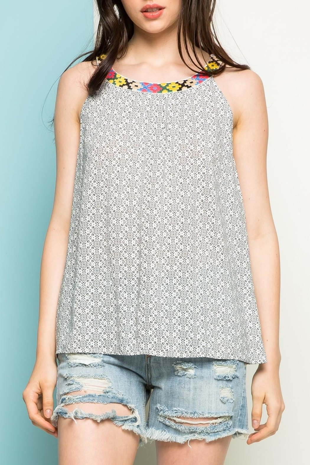 Thml Embroidered Top - Front Cropped Image