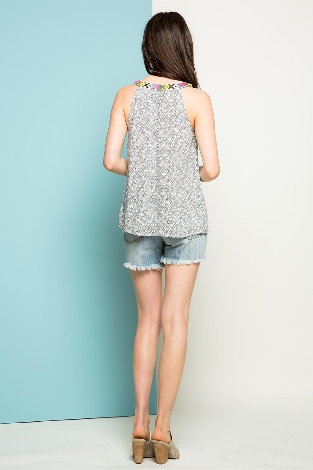 Thml Embroidered Top - Back Cropped Image