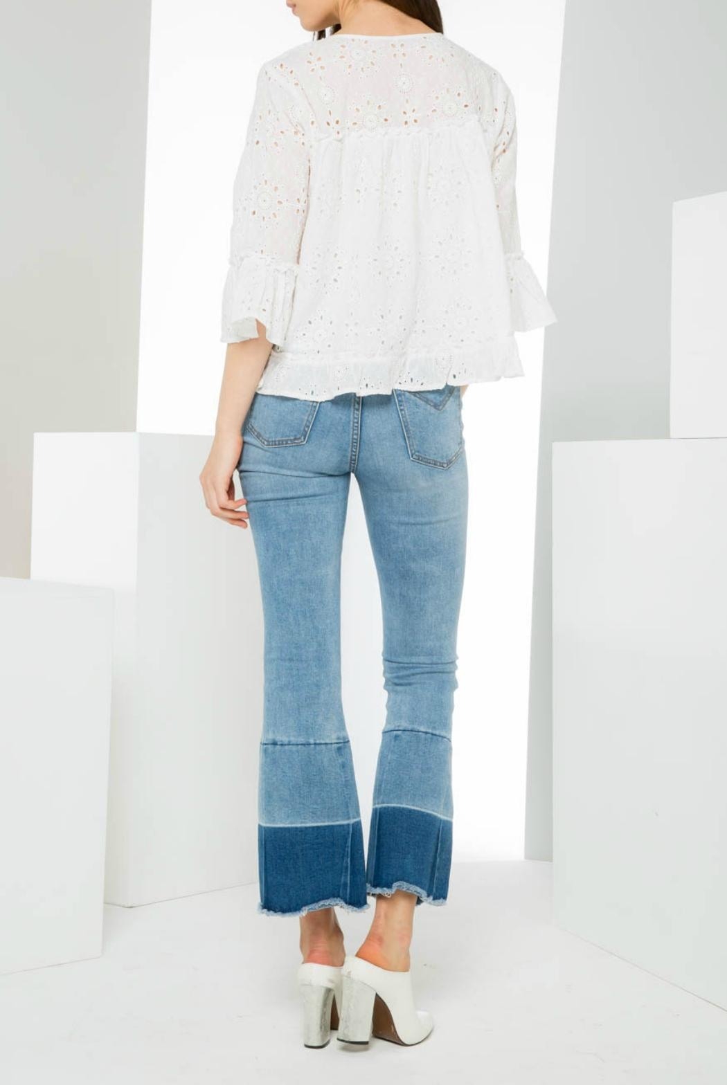 THML Clothing Eyelet Pullover Top - Side Cropped Image