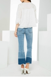 THML Clothing Eyelet Pullover Top - Side cropped