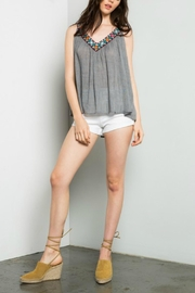 Thml Grey Embroidered Top - Product Mini Image