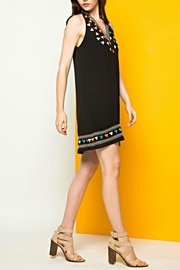 THML Clothing Halter Embroidered Dress - Front full body