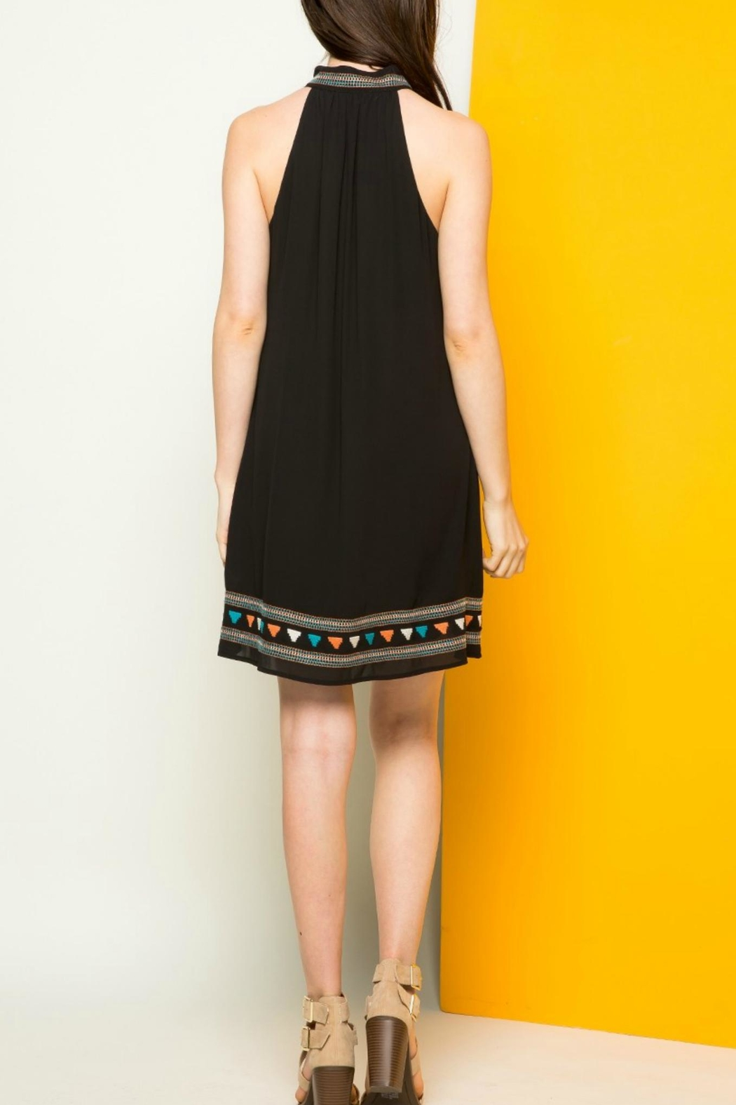 THML Clothing Halter Embroidered Dress - Side Cropped Image