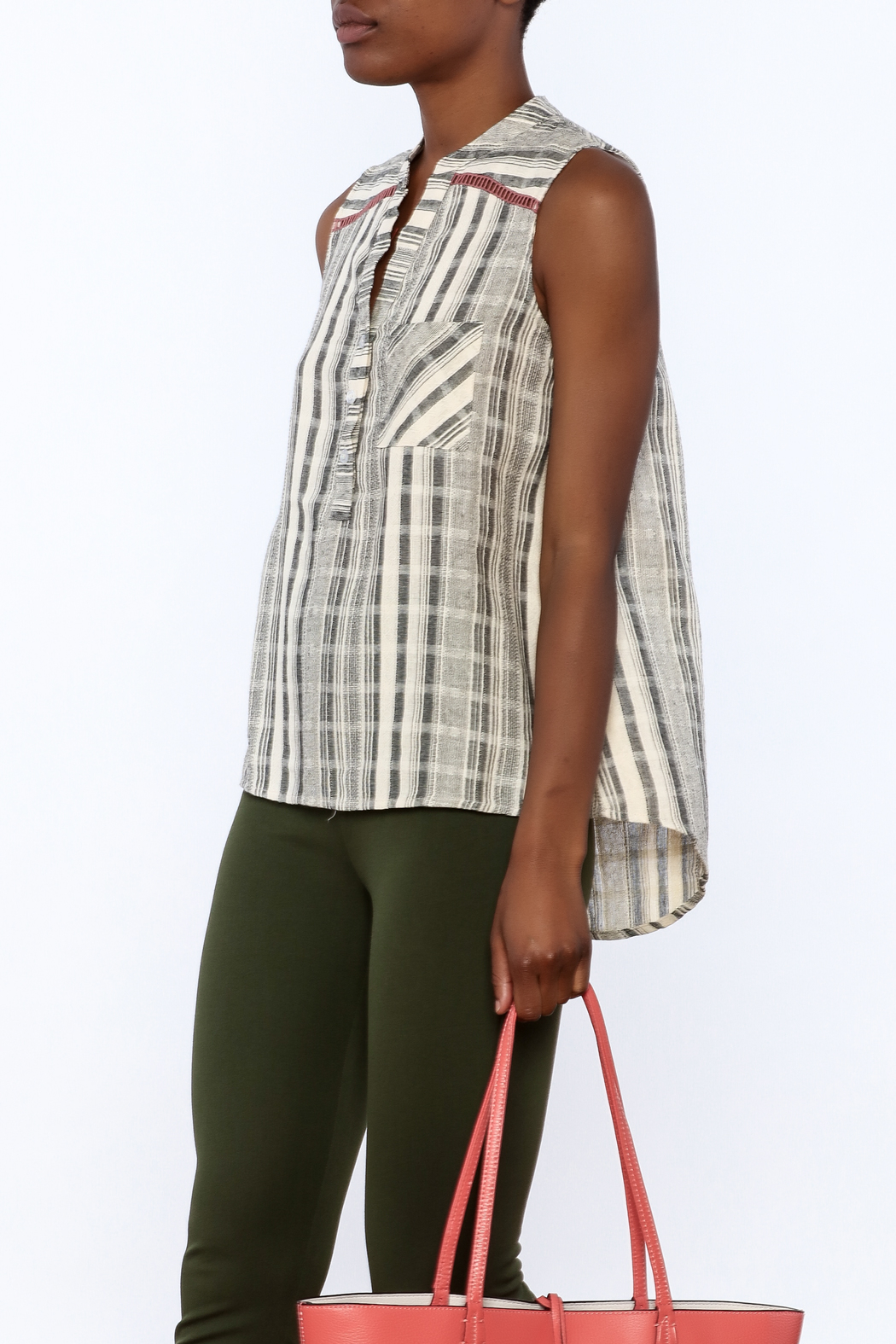 Thml Lazy Day Boho Blouse - Front Cropped Image