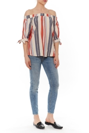 Shoptiques Product: Off Shoulder Stripe Top