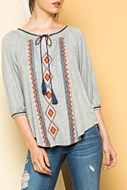THML Clothing Peasant Tie Top - Product Mini Image