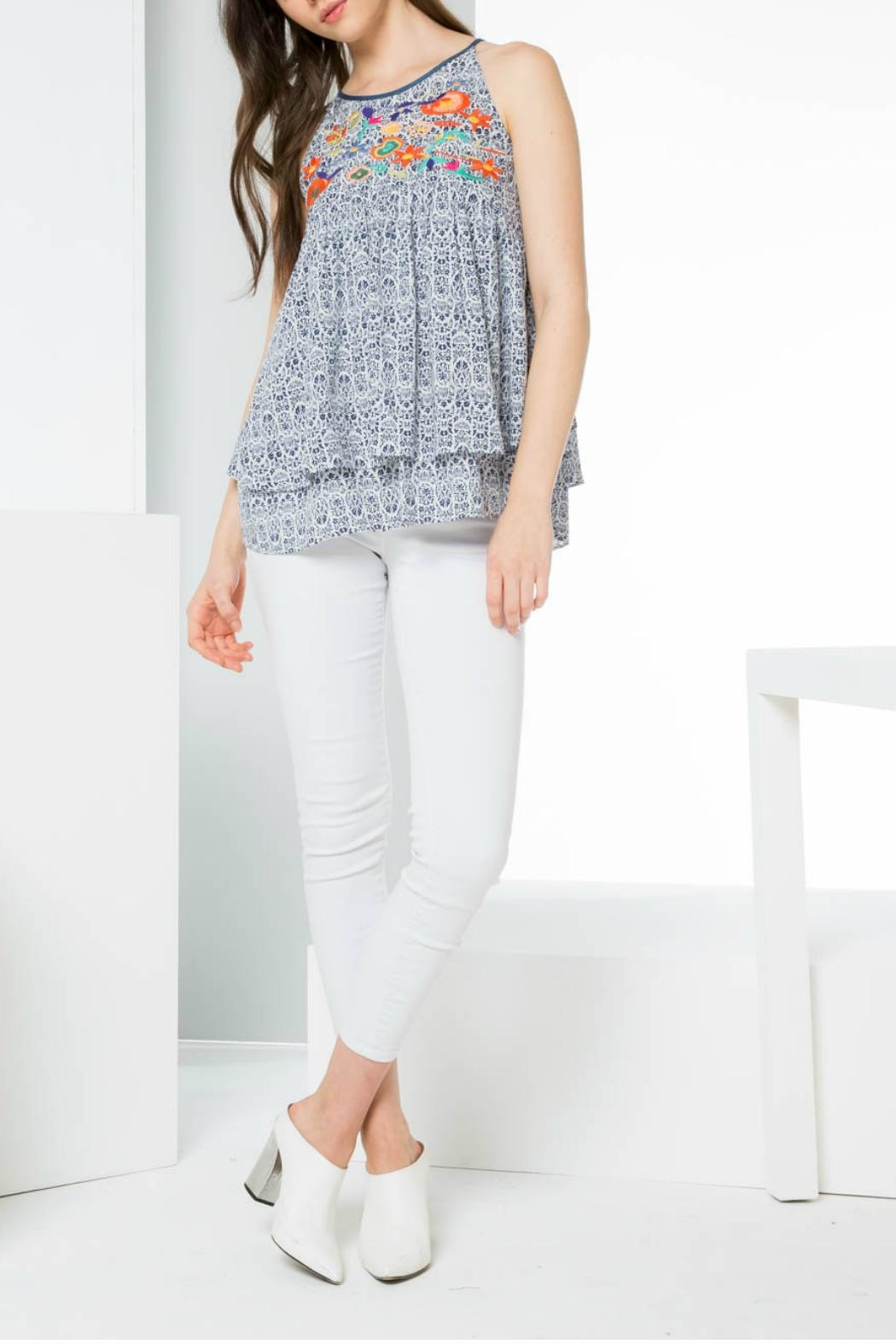 Thml Printed Embroidery Tank - Main Image