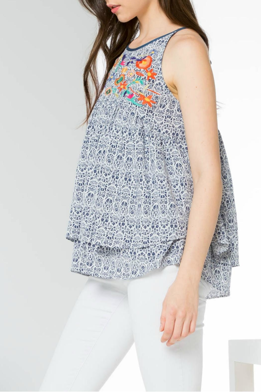Thml Printed Embroidery Tank - Side Cropped Image