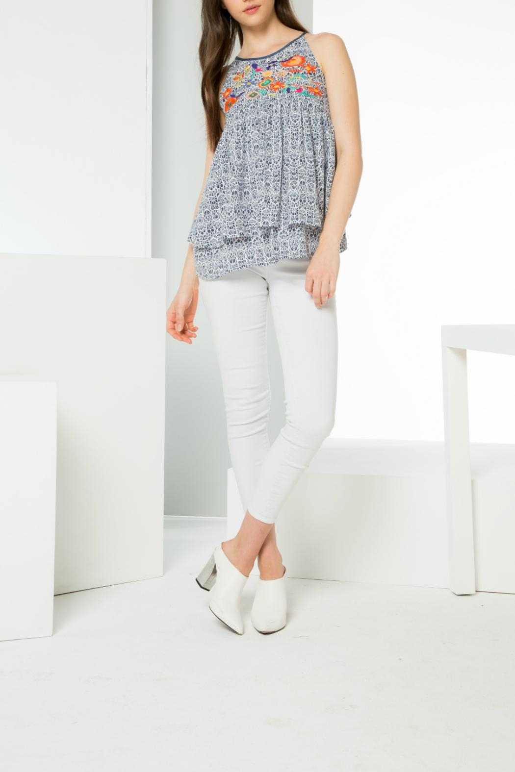 Thml Printed Embroidery Tank - Front Full Image