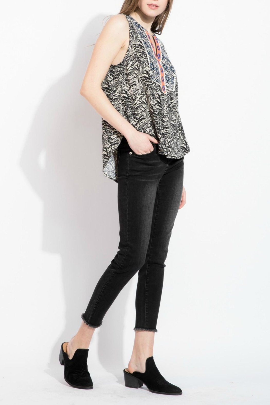 THML Clothing printed embroidery top - Front Full Image