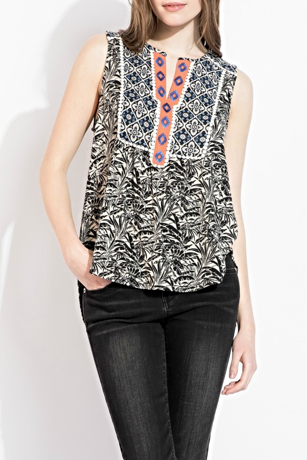 THML Clothing printed embroidery top - Main Image