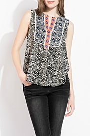 Thml printed embroidery top - Front cropped