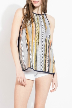 Shoptiques Product: Printed Sleeveless Blouse
